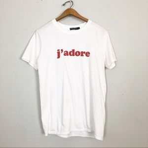 Relaxed J'adore Graphic Tee Nasty Gal